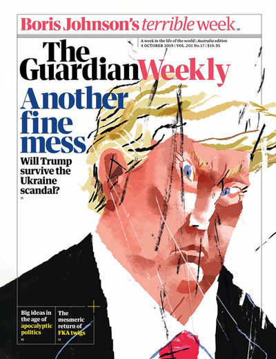 Карикатуры украинского художника украсили обложки The Guardian Weekly.