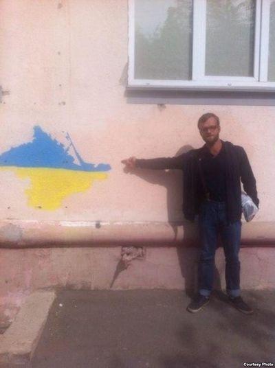 На зданиях Омска появился сине-желтый Крым