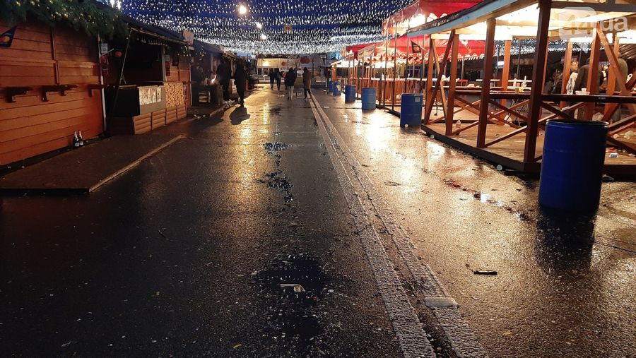 Как выглядит центр Киева после массовых гуляний на Новый год.