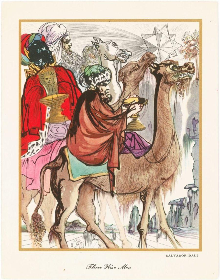 Затерянные рождественские открытки Сальвадора Дали.
