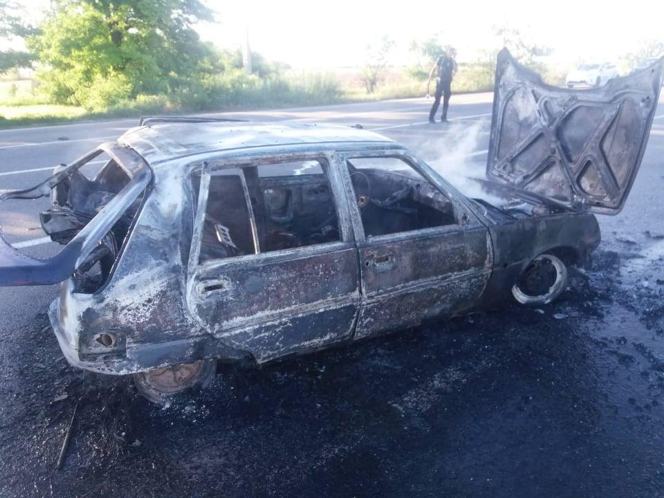 ДТП на трассе под Николаевом: сгорел водитель «Славуты», пассажир госпитализирован