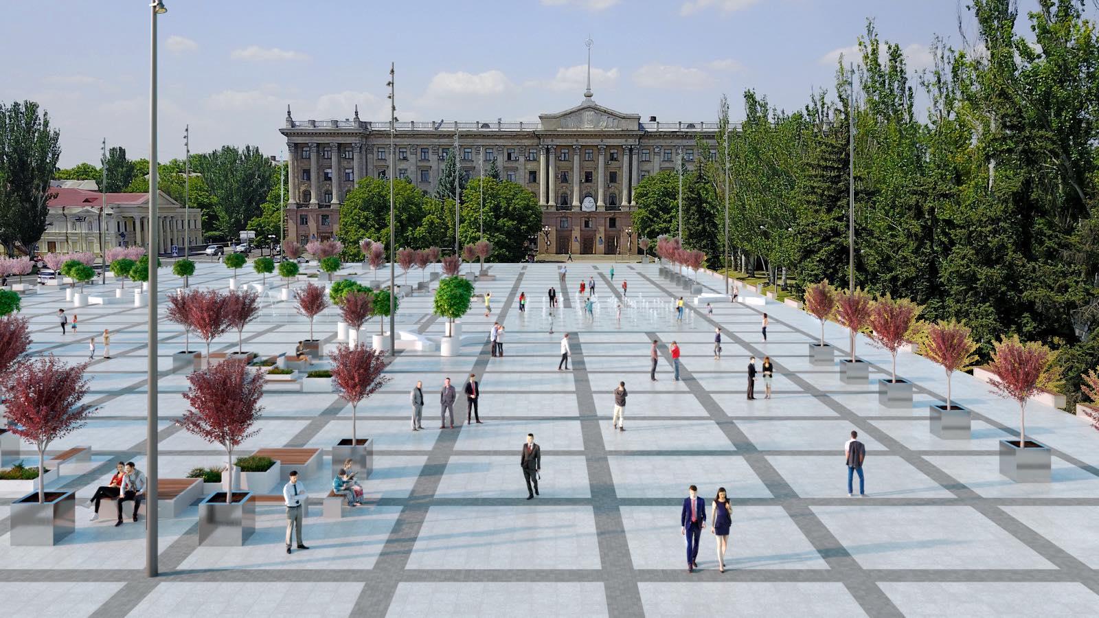 Сенкевич рассказал, какие еще работы предусмотрены по площади Соборной