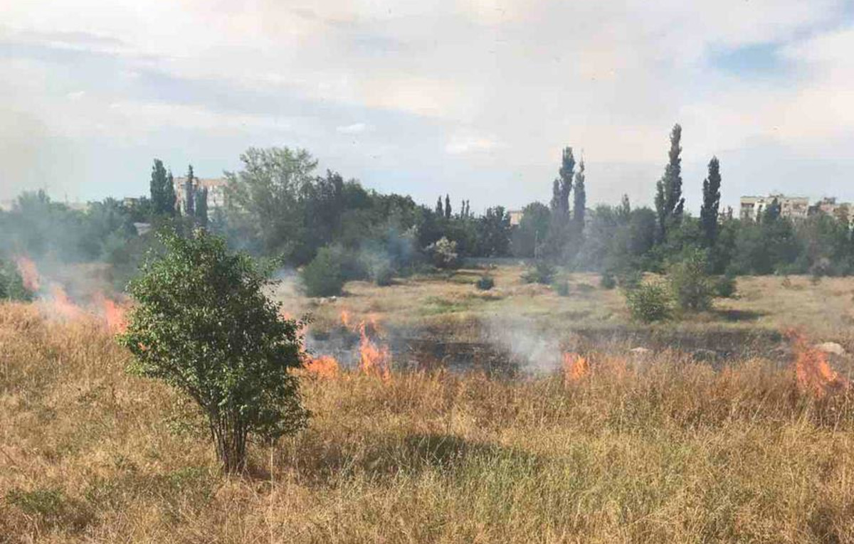 На Николаевщины из-за неосторожного обращения с огнем вновь горели поля сухостоя